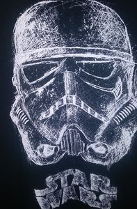 Star Wars Stormtrooper L Black SS TShirt